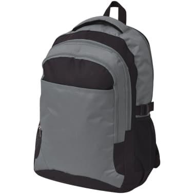 vidaXL Rugzak voor school 40 L zwart en grijs[1/9]