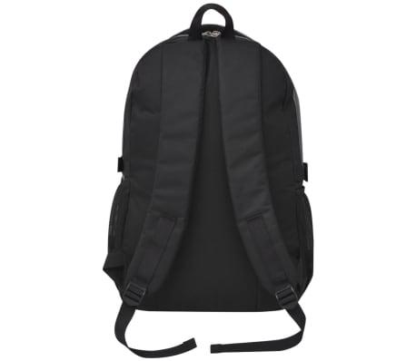 vidaXL Rugzak voor school 40 L zwart en grijs[4/9]