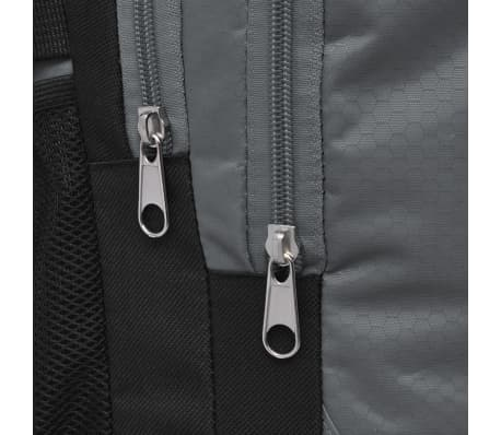 vidaXL Rugzak voor school 40 L zwart en grijs[6/9]