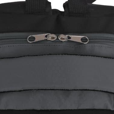 vidaXL Rugzak voor school 40 L zwart en grijs[5/9]
