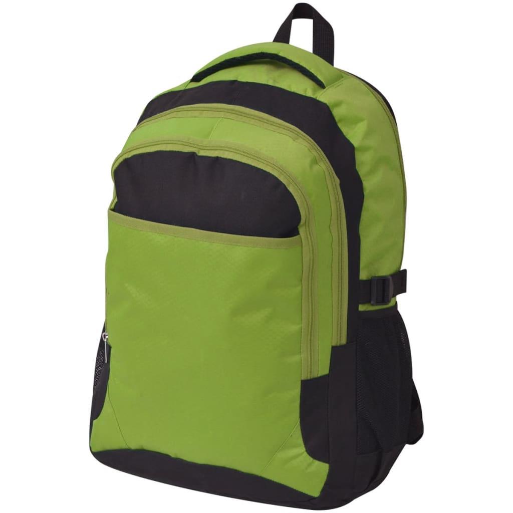 vidaXL Rucsac pentru școală, 40 L, negru și verde vidaxl.ro