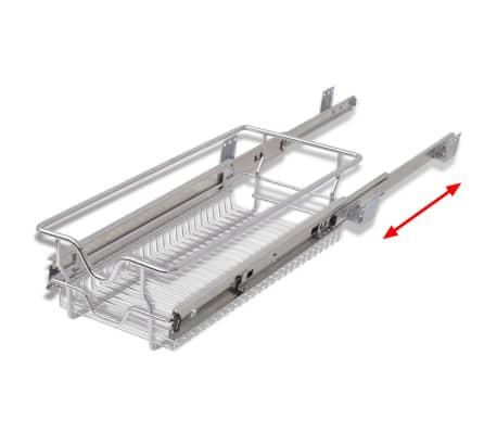 vidaXL Ištraukiami vieliniai laikikliai, 2 vnt., sidabro sp., 300 mm[6/7]