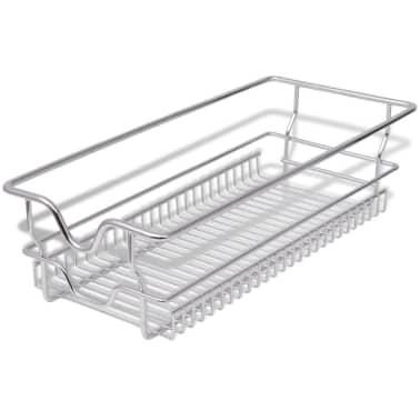 "vidaXL Pull-Out Wire Baskets 2 pcs Silver 11.8""[3/7]"