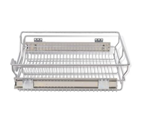 "vidaXL Pull-Out Wire Baskets 2 pcs Silver 19.7""[5/7]"