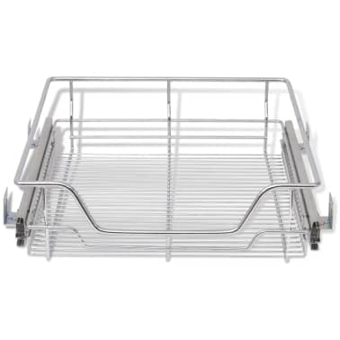 "vidaXL Pull-Out Wire Baskets 2 pcs Silver 19.7""[4/7]"
