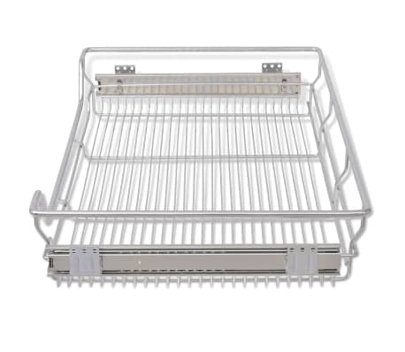 "vidaXL Pull-Out Wire Baskets 2 pcs Silver 31.5""[5/7]"