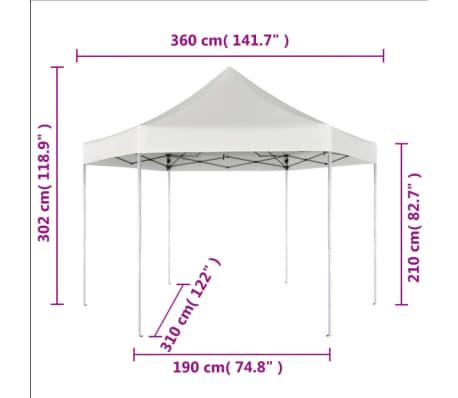 Voorkeur vidaXL Partytent pop-up opvouwbaar zeshoekig crémewit 3,6 x 3,1 m DQ38