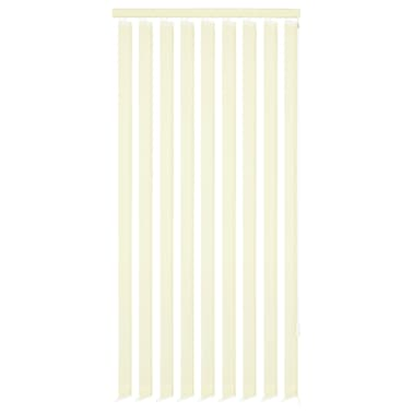 vidaXL Jaluzele verticale din material textil, 150 x 250 cm, crem[1/9]