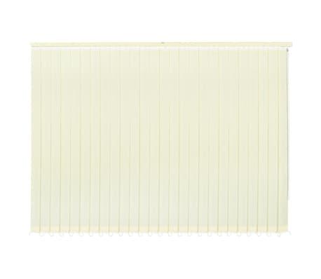 vidaXL Jaluzele verticale din material textil, 150 x 250 cm, crem[4/9]