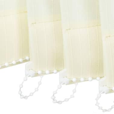 vidaXL Jaluzele verticale din material textil, 150 x 250 cm, crem[7/9]