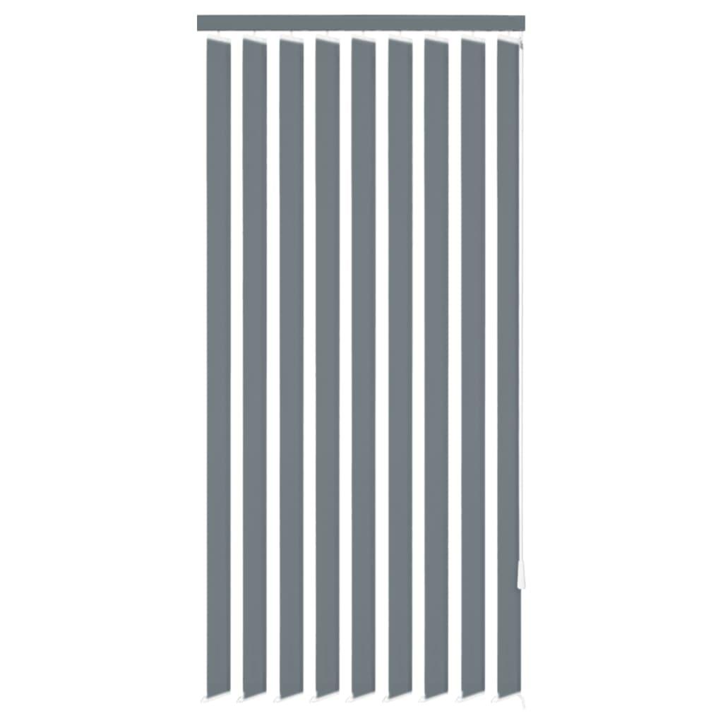 vidaXL Vertikální žaluzie šedá látka 200x180 cm