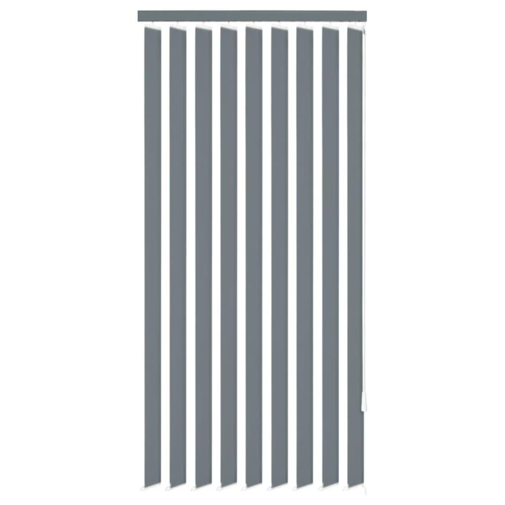 vidaXL Jaluzele verticale din material textil, 180 x 250 cm, gri imagine vidaxl.ro