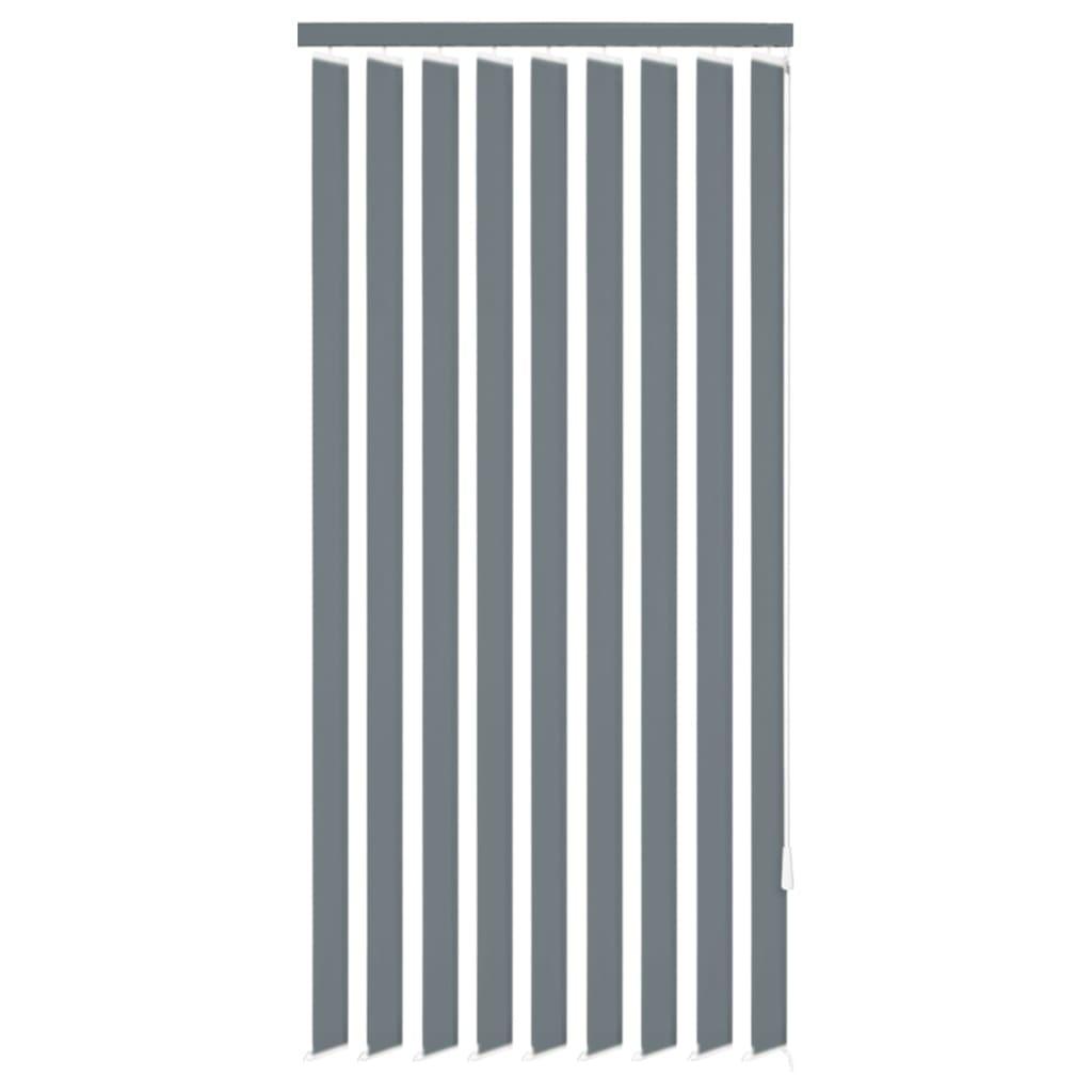 vidaXL Vertikální žaluzie šedá látka 200x250 cm