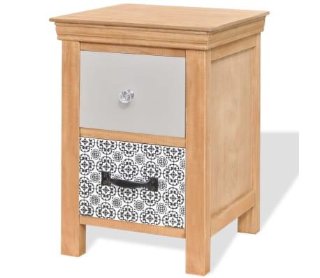 vidaXL Szafka z szufladkami 34x34x46 cm lite drewno[2/6]