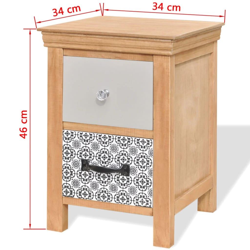 Ladekast 34x34x46 cm massief hout