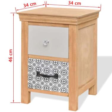 vidaXL Szafki z szufladkami 2 szt. 34x34x46 cm lite drewno[6/6]