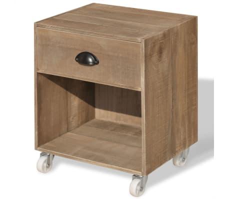 vidaXL Nightstand Brown Solid Wood[2/12]