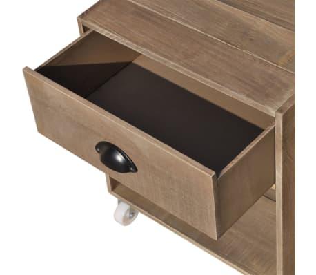 vidaXL Nightstand Brown Solid Wood[5/12]