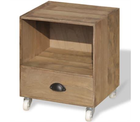 vidaXL Nightstand Brown Solid Wood[8/12]