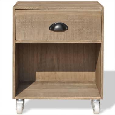vidaXL Nightstand Brown Solid Wood[3/12]