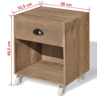 vidaXL Nightstand Brown Solid Wood[12/12]