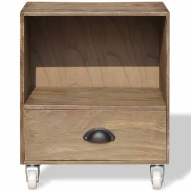 vidaXL Nightstand Brown Solid Wood[7/12]