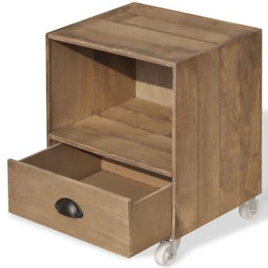 vidaXL Nightstand Brown Solid Wood[9/12]