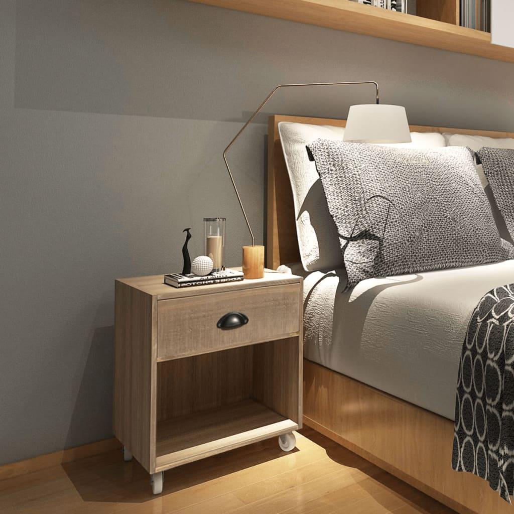 vidaXL Noční stolek hnědý, masivní dřevo