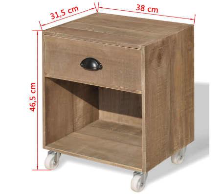 vidaXL Noptiera din lemn masiv, maro, 2 buc.[12/12]