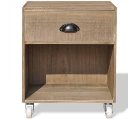 vidaXL Nightstand 2 pcs Brown Solid Wood[3/12]