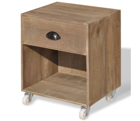 vidaXL Nightstand 2 pcs Brown Solid Wood[4/12]