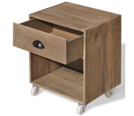 vidaXL Nightstand 2 pcs Brown Solid Wood[5/12]