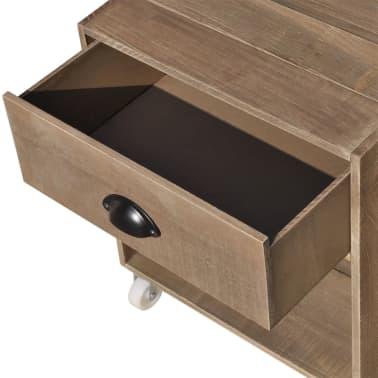vidaXL Nightstand 2 pcs Brown Solid Wood[6/12]