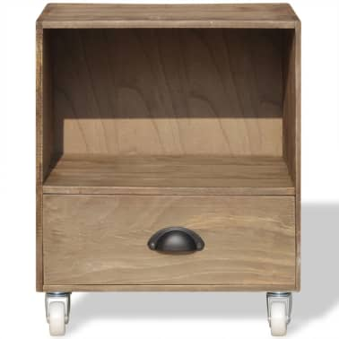 vidaXL Nightstand 2 pcs Brown Solid Wood[8/12]