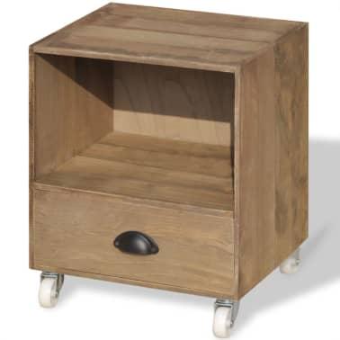 vidaXL Nightstand 2 pcs Brown Solid Wood[9/12]