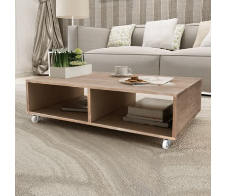 Details about vidaXL Solid Wood Coffee Couch Side End Accent Table Living  Room Furniture
