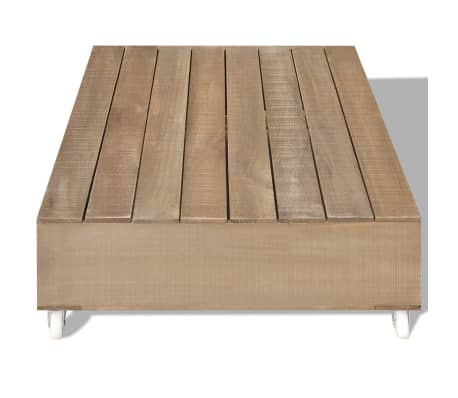 vidaXL Table basse Bois massif Marron[3/5]