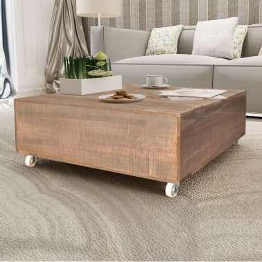 vidaXL Table basse Bois massif Marron[1/5]