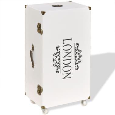 vidaXL Βοηθητικό Τραπέζι / Μπαούλο Λευκό 40 x 30,5 x 81 εκ.[2/8]