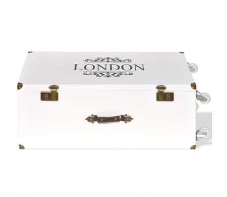 vidaXL Βοηθητικό Τραπέζι / Μπαούλο Λευκό 40 x 30,5 x 81 εκ.[5/8]