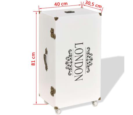 vidaXL Βοηθητικό Τραπέζι / Μπαούλο Λευκό 40 x 30,5 x 81 εκ.[8/8]