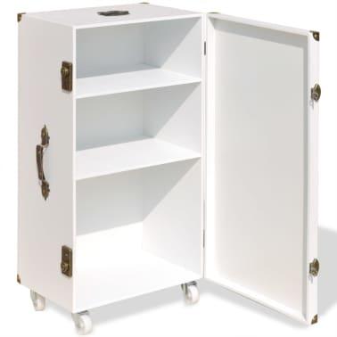 vidaXL Βοηθητικό Τραπέζι / Μπαούλο Λευκό 40 x 30,5 x 81 εκ.[4/8]