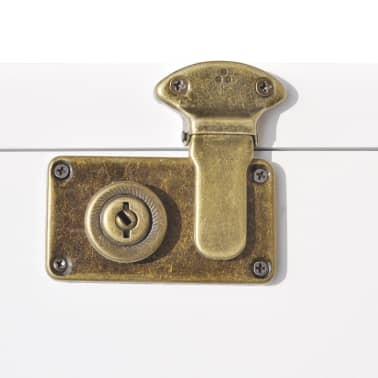 vidaXL Spintelė, lagamino formos, 40x30,5x81cm, balta[6/8]