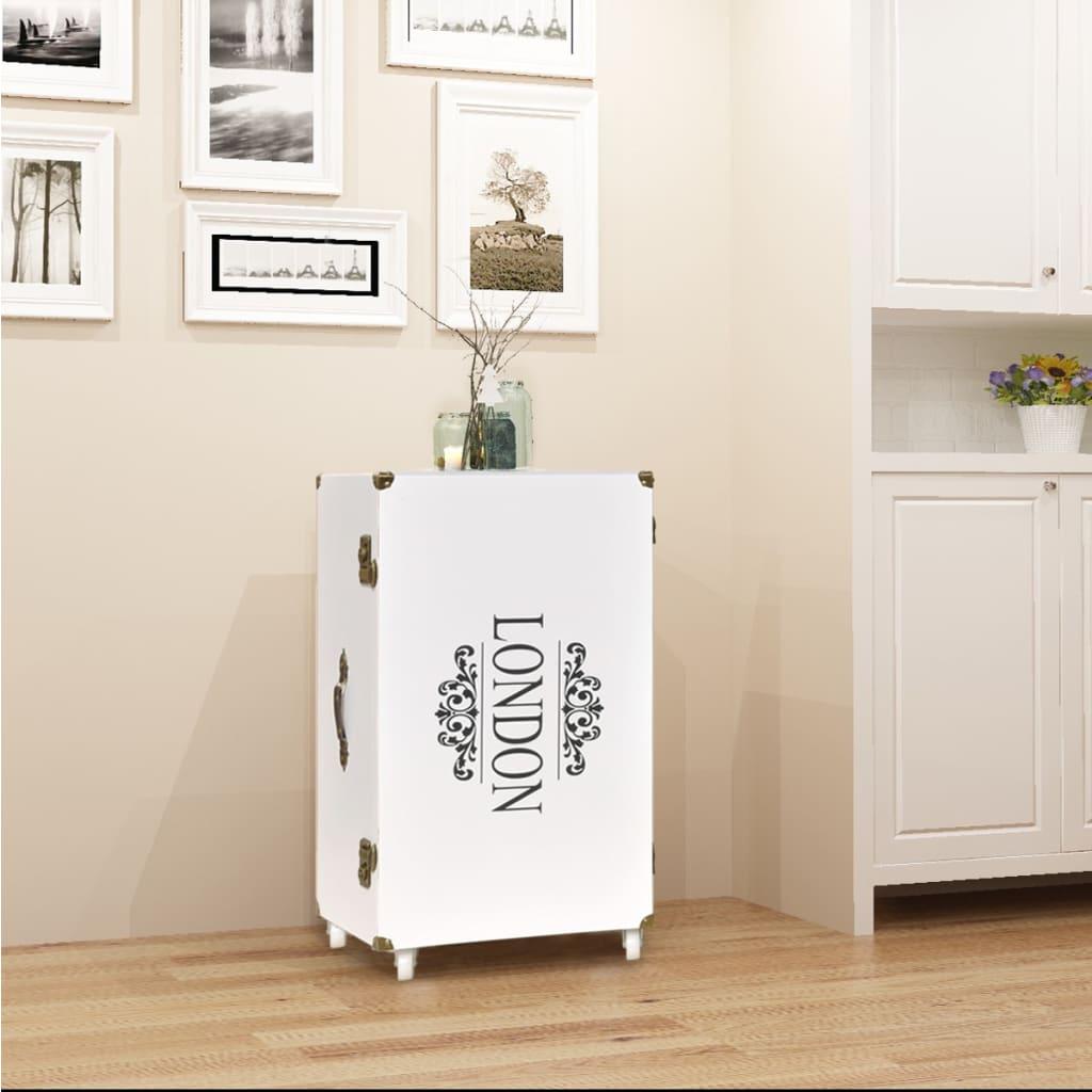 vidaXL Βοηθητικό Τραπέζι / Μπαούλο Λευκό 40 x 30,5 x 81 εκ.