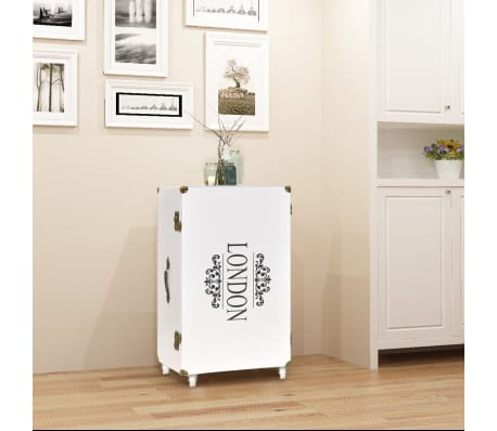 vidaXL Βοηθητικό Τραπέζι / Μπαούλο Λευκό 40 x 30,5 x 81 εκ.[1/8]