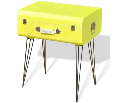 vidaxl table de chevet 49 5 x 36 x 60 cm jaune. Black Bedroom Furniture Sets. Home Design Ideas