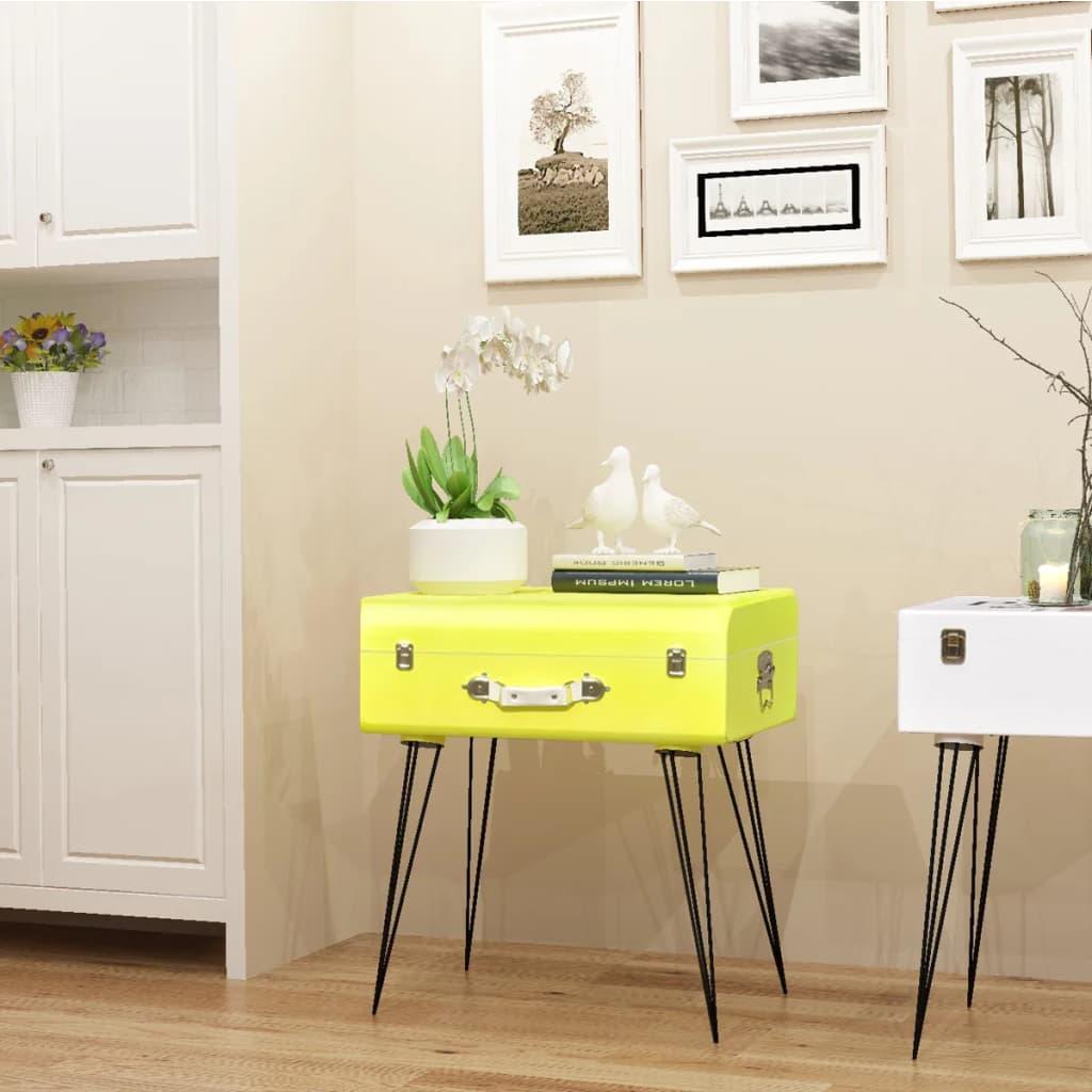 vidaXL Odkládací skříňka 49,5x36x60 cm žlutá