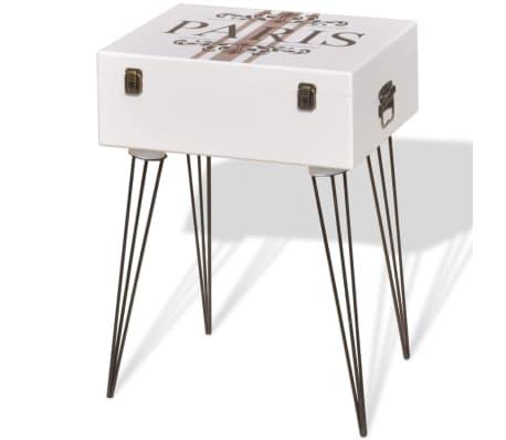 vidaXL Szafka w kształcie walizki, 40x30x57 cm, biała[2/6]