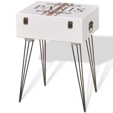 vidaXL Mesita auxiliar 40x30x57 cm blanca[2/6]
