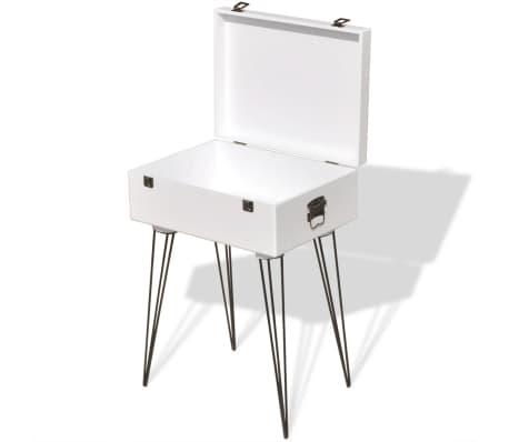vidaXL Szafka w kształcie walizki, 40x30x57 cm, biała[4/6]